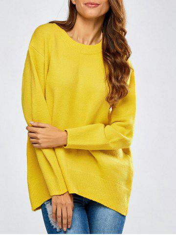 Sale High-Low Baggy Slit Sweater