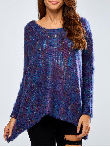 Chic Asymmetric Baggy Jacquard Sweater