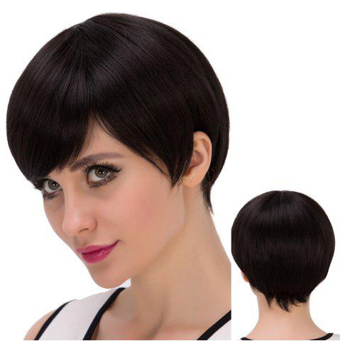 Unique Ultrashort Side Bang Straight Synthetic Wig