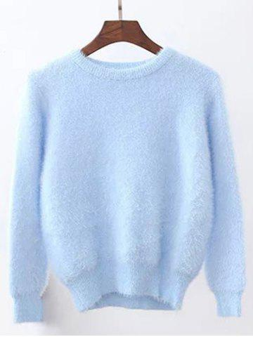 New Candy Color Fuzzy Cropped Sweater