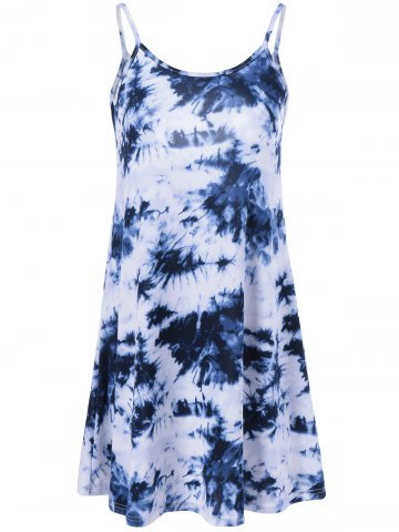 Outfits Tie Dye Print Mini Cami Dress