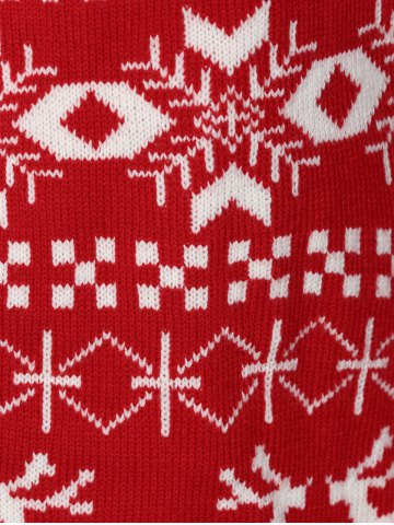 Outfits Christmas Jacquard Cute Plus Size Cardigan - 2XL RED Mobile