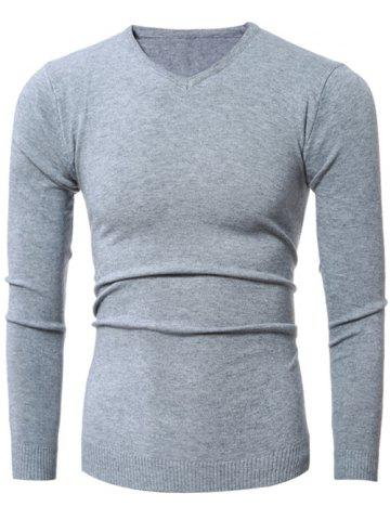 Outfit Slim-Fit V-Neck Stretchy Pullover Knitwear
