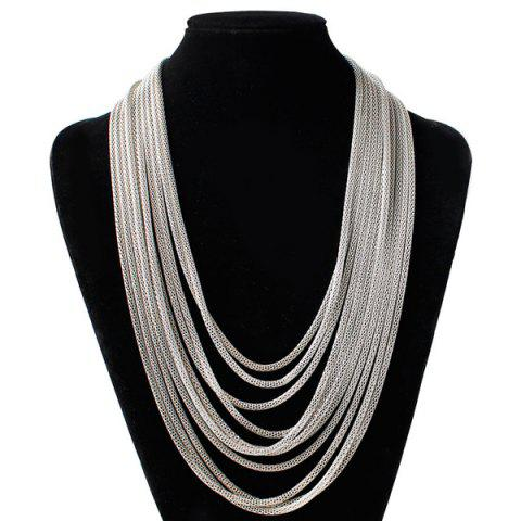 Necklaces for women cheap cute necklaces sale online rosegal layered alloy chain necklace aloadofball Gallery