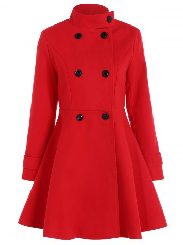 Shops Double Breasted Skirted Coat