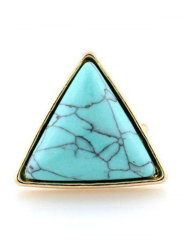 Shops Faux Turquoise Triangle Metal Ring