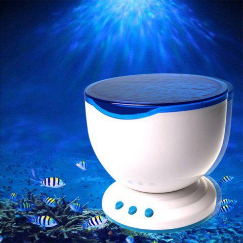 Online Creative Sea Waves Projection Night Light