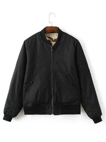 Store Reversible Stand Collar Bomber Jacket