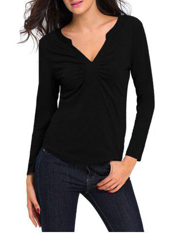 Best Ruched Long Sleeves T-Shirt