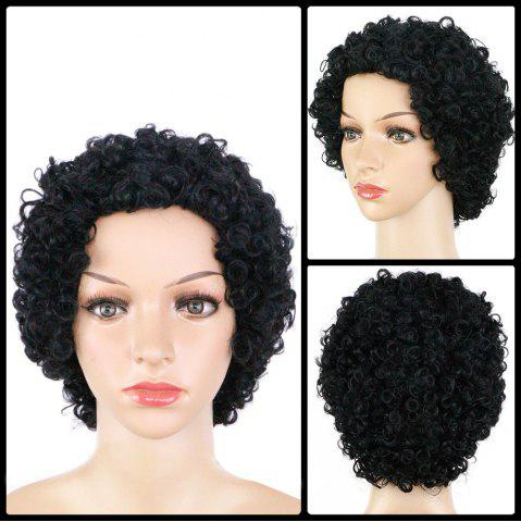Cheap Sophisticated Short Curly Synthetic Wig BLACK