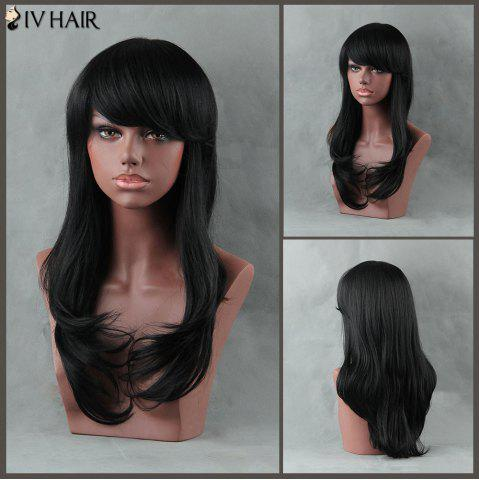 Outfits Long Straight Side Bang Tail Adduction Siv Human Hair Wig