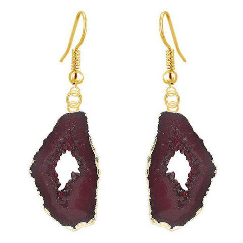 Affordable Vintage Natural Stone Drop Earrings