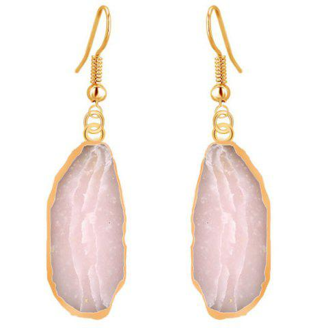 Outfits Natural Stone Gilt Edged Drop Earrings