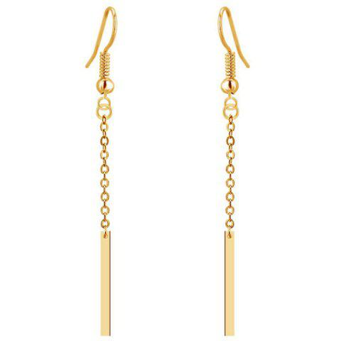 Discount Gold Plated Bar Tassel Drop Earrings