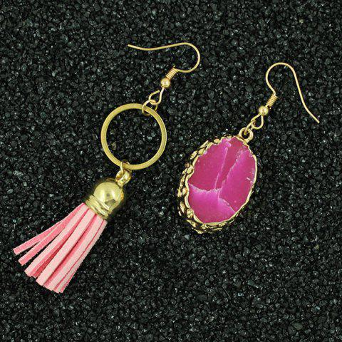 Buy Natural Stone Tassel Asymmetry Drop Earrings