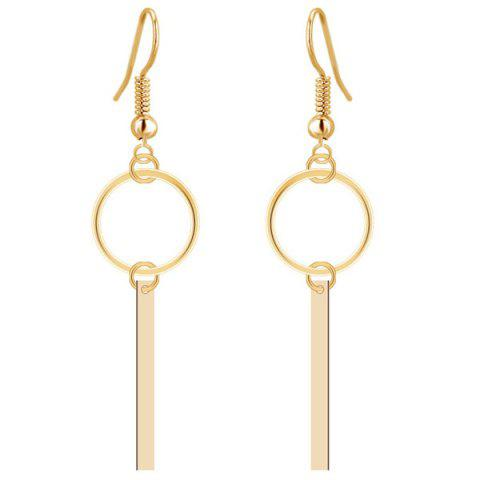 Fashion Shiny Circle Strip Dangle Drop Earrings