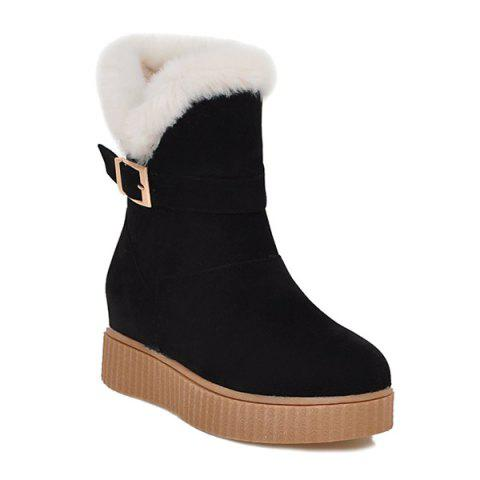Fancy Round Toe Increased Internal Buckle Snow Boots