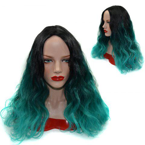 Fashion Wavy Long Shaggy Ombre Centre Parting Synthetic Wig