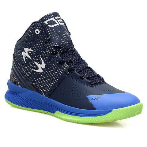 Affordable High Top Color Block Athletic Shoes