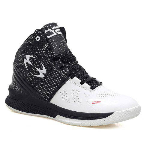 Trendy High Top Color Block Athletic Shoes