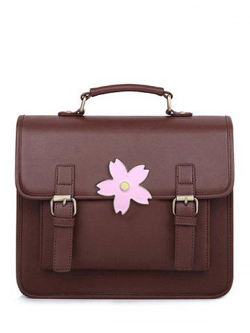 Online Sakura Buckle Strap Satchel Bag
