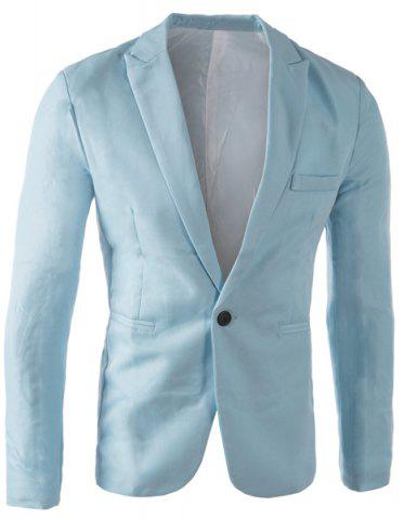 Fashion Casual Tailored Collar Single Button Solid Color Blazer For Men