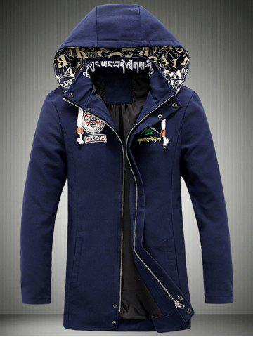 New Cartoon Printed Zip-Up Applique Hooded Jacket