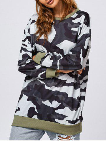 Trendy Camo Pattern Long Sweatshirt