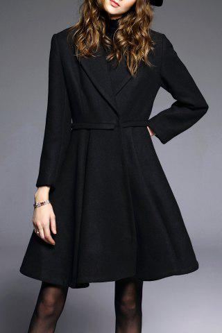 A Line Coat with One Button