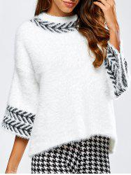 Jacquard Fuzzy Loose Sweater