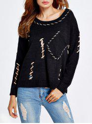 High-Low Cut Out Baggy Sweater