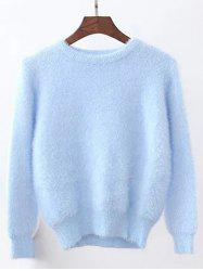 Candy Color Fuzzy Cropped Sweater -