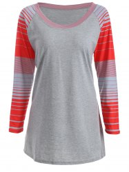 Stripe Raglan Sleeve T-Shirt