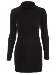 Casual Mini Long Sleeve Bodycon Turtleneck Sweater Dress