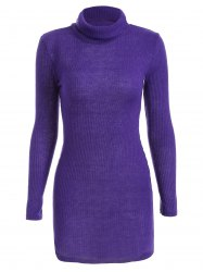 Casual Mini Long Sleeve Bodycon Sweater Dress