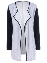 Long Collarless Cardigan -