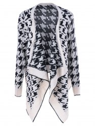 Asymmetrical Geometrical Loose Collarless Cardigan
