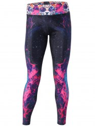 Dreamlike Flame Galaxy and Cat Print Yoga Pants -