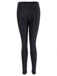 Skinny Elastic Plus Size Smooth Pants