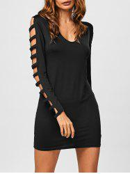 Hollow Out V Neck Bodycon Mini Dress -