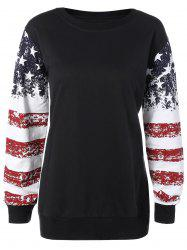 Stars and Stripes Drop Shouler Sweatshirt