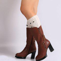 Warm Crochet Owl Knit Boot Cuffs