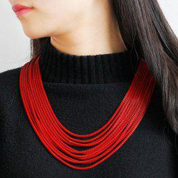 Layered Alloy Chain Necklace