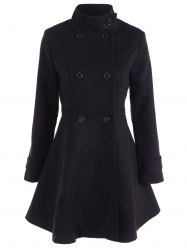 Double Breasted Skirted Coat -