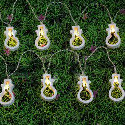 10PCS Christmas Party Supplies Snowman Hanging LED Light Bunch Decoration - WARM WHITE LIGHT