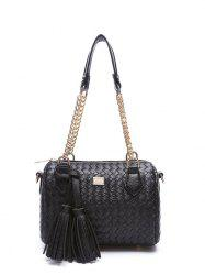 Weaving Chains Tassel Shoulder Bag
