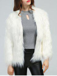 Faux Fur Slimming Coat