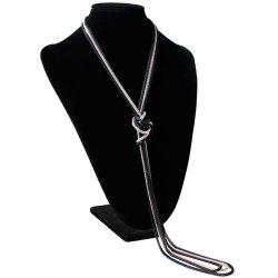 Ultra Long Knotted Pendant Necklace