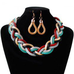 Multi Color Knitted Alloy Necklace Set