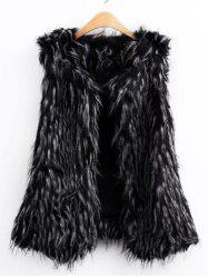 Faux Fur Collarless Vest